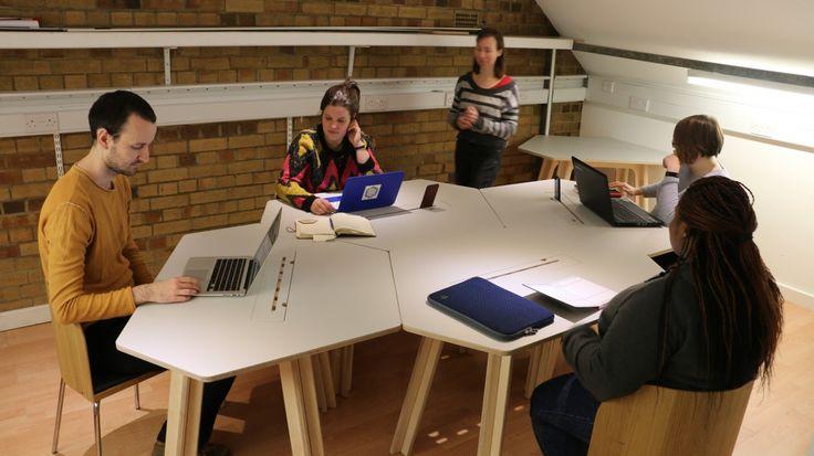 #modoola desk #coworking made in uk #plywood desk smart furniture