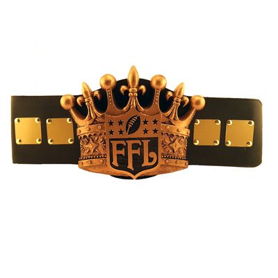 Fantasy Football Champion Belt, awesome award to add multiple names on and pass around from year to year.