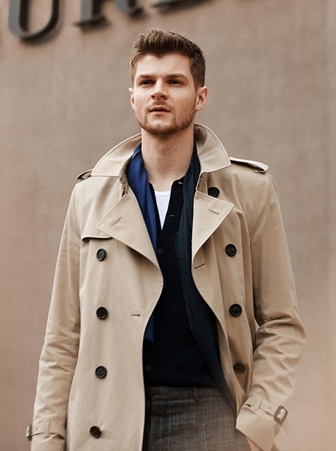 British blogger Jim Chapman outside the Burberry show space ahead of the Menswear Autumn/Winter 2015 show