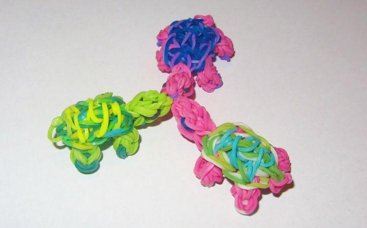 Rainbow Loom Charms: TURTLE (UPDATED) - How to make a Rainbow Loom Turtl...