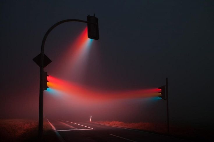 Long exposure photo of traffic lights at night. #Photography