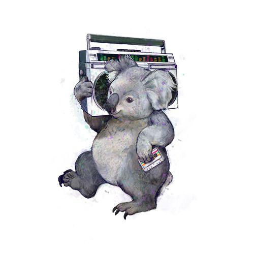 retro koala print by Laura Graves available on society6:http://society6.com/product/koala-6f0_print#1=45