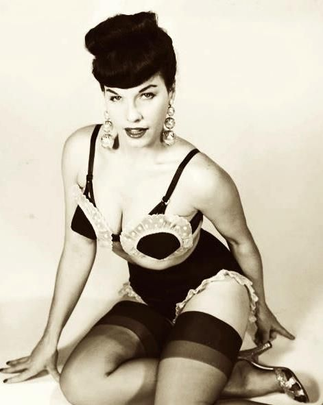 Rare Bettie Page of the Week is a Dolly with Doilies! Cheesecake Cupcakes!