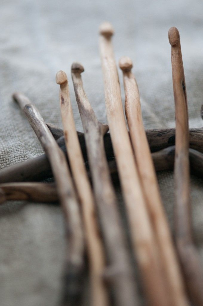 S. Mackie;s photo of Keble Craft Collective driftwood crochet hooks found on an instructional site not written by us.