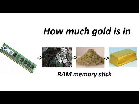 This video shows the proces of scraping a RAM memory stick to show you, what are the interesting parts which are to be processed for gold recovery. source