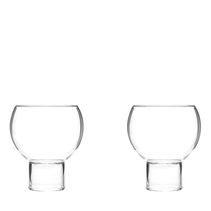Set Of 2 Tulip Glasses Low Small, Small Tulip Glass