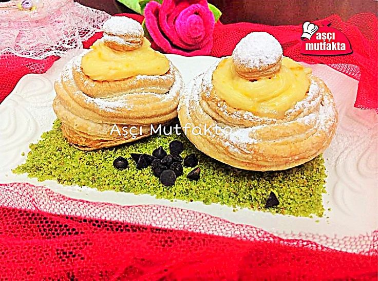 Milföy hamurundan farklı görünümde tatlılar oluşturabilirsiniz...