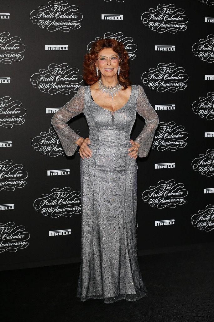 Sophia Loren attends 'Pirelli Calendar' 50th Anniversary Event- Milan 11/21/13