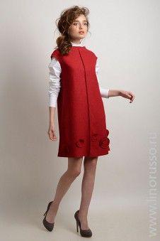 #autumn2015 #winter2015 #LinoRusso #dress #chic #woolen #RED