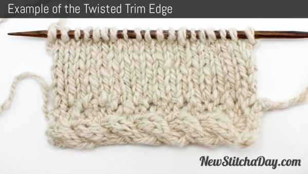 Knitting Stitches Examples : Example of the Twisted Trim Edge knit stitch patterns Pinterest Knits, ...
