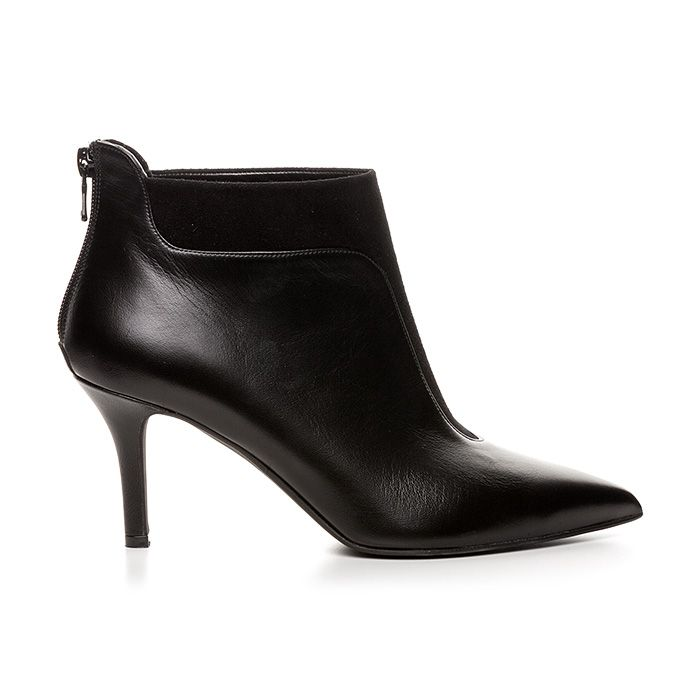 71405_BLACK LEATHER #mourtzi #shoes #midheels #anleboots #suede #office_look