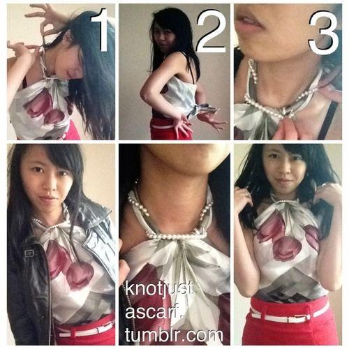 Knot Just A Scarf Tutorial #81: Necklace Twist Halter Top. #silk #scarf #how #tie #tying #tutorial #diy #top