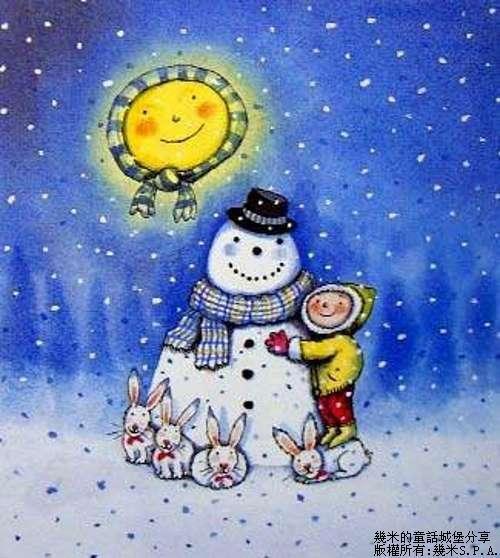 Cozy winter scene