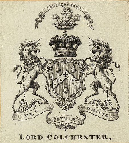 Armorial bookplate of Charles Abbot (1757 –1829), 1st Baron Colchester (UK1817).