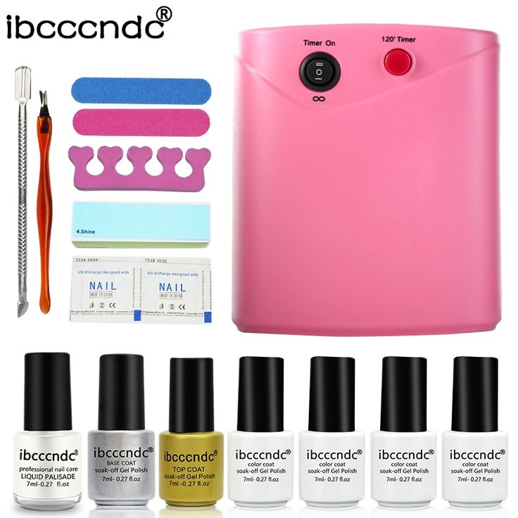33.59$  Watch now - http://alilo1.shopchina.info/go.php?t=32787201801 - Professional Nail Art Set Manicure Tools Kit UV Gel Nail Sets 36W UV Lamp + 4 Colors 7ml Gel Polish Base Top Coat with Remover 33.59$ #shopstyle