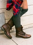 Knee High Socks + Boots = Perfect Pair