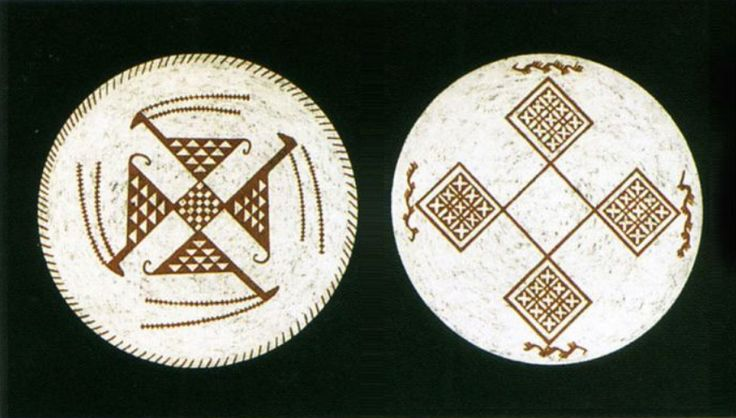 Geometric design in the dish of the Samarra period. Iraq museum, 5500 BC.