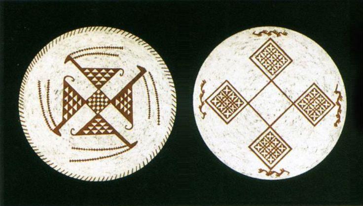 Geometric design in the dish of the Samarra period. Iraq museum, 5500 BC.