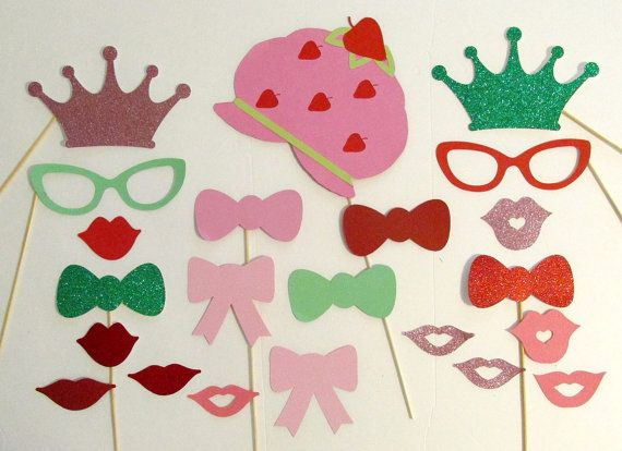 Photo Booth Props Inspired by Strawberry by PimpYourParty on Etsy