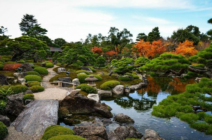 Japanese garden, Matsue city