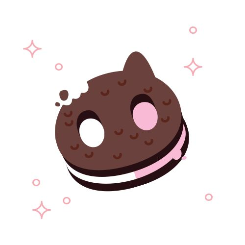 cookie cat he a pet for your tummycookie cat he super duper yummy