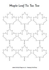 Maple Leaf Tic Tac Toe - a fun activity for Canada Day!