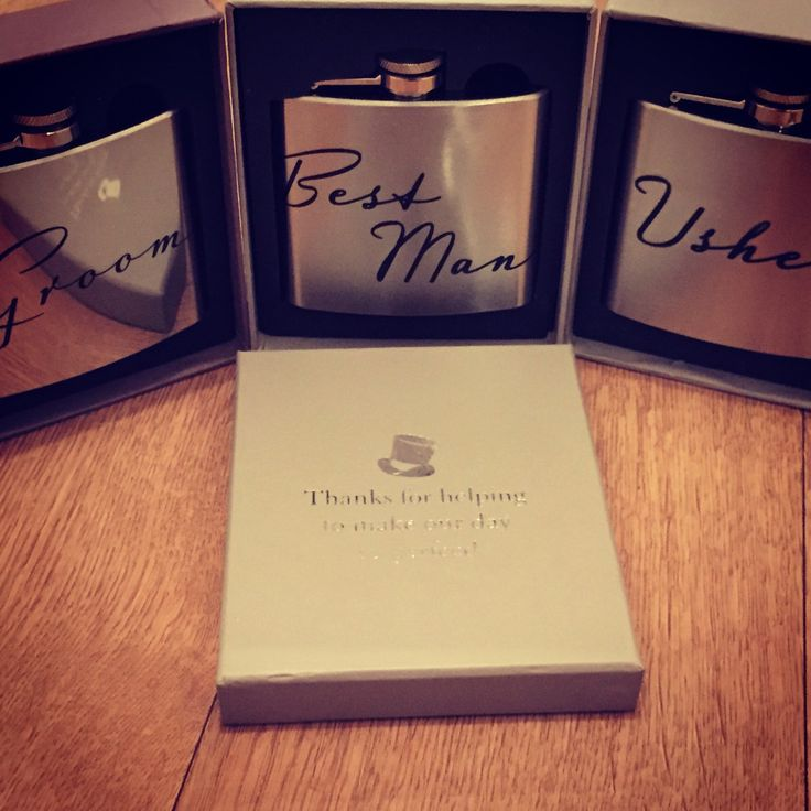 Usher, Best Man, Groom Hipflasks with Presentation Box. perfect Wedding Gift Hip Flask by TheLittleLovebird on Etsy https://www.etsy.com/uk/listing/233247403/usher-best-man-groom-hipflasks-with