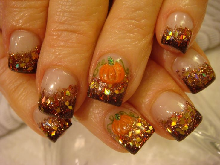 300 best Fall / Thanksgiving nails images on Pinterest