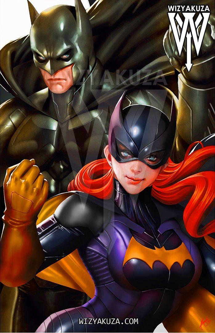 Batman and Batgirl by Wizyakuza