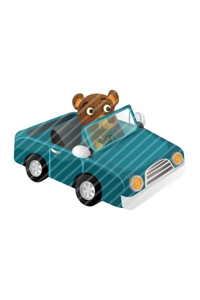 Bear Driving Vector #bear #handdrawn #vector #graphics #pack #vectorpack #animal #car http://www.vectorvice.com/bear-vector