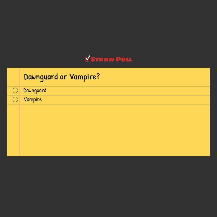 [MILD SPOILER] - Dawnguard or Vampire? #games #Skyrim #elderscrolls #BE3 #gaming #videogames #Concours #NGC