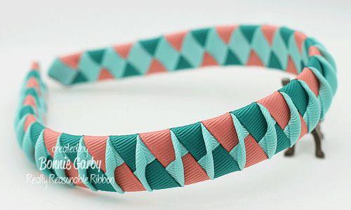 Really Reasonable Ribbon Blog: Woven Ribbon Headband with a Twist Video Tutorial