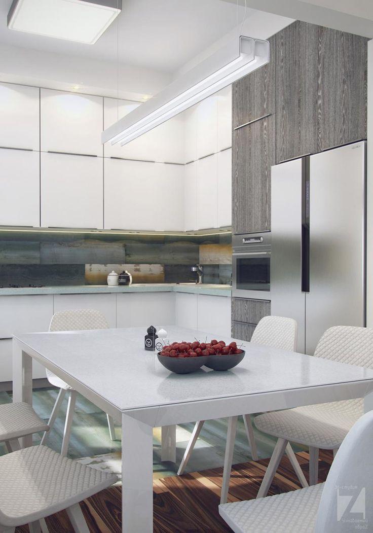 Кухня-гостиная в современном стиле - Галерея 3ddd.ru