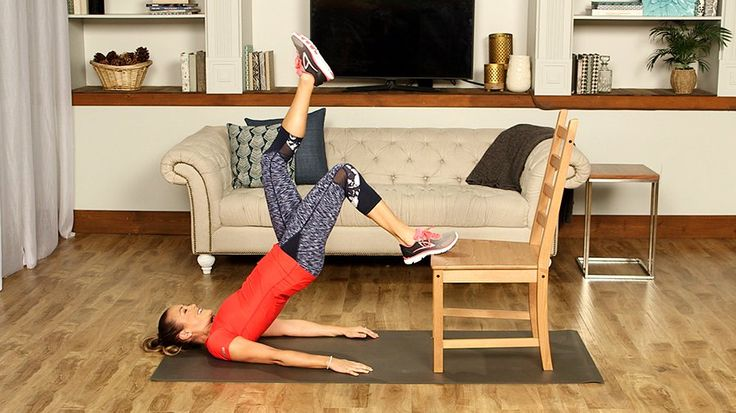 We might have just found our new favourite piece of workout equipment, and it's a standard, sturdy wooden chair!
