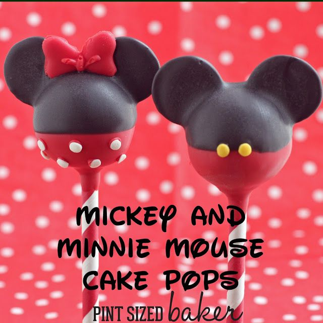 Pint Sized Baker: Mickey and Minnie Mouse Cake Pops