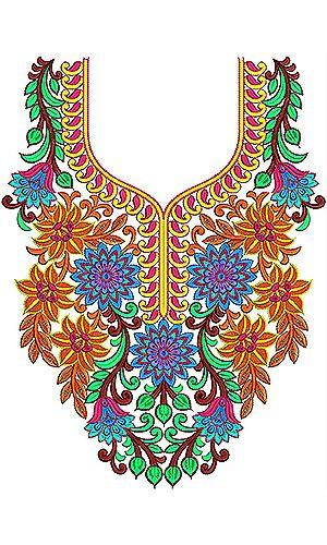 Modern British Clothing | Neck Gala Embroidery Design