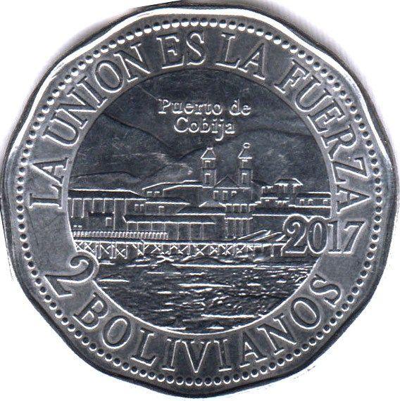 Monedas de Bolivia reivindican derecho de salida al mar