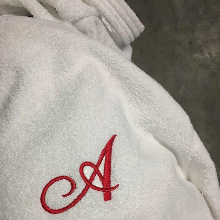 MarinaC - a classic font for your soft bathrobe #marinacmilano #luxury #alwayschic