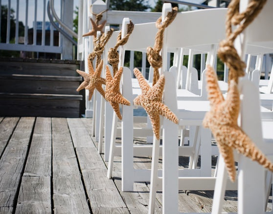 seaside decorations at cottage by the creek, mount pleasant, sc