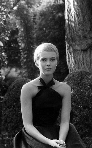 Jean Seberg in Bonjour Tristesse, costumes by Hubert de Givenchy.