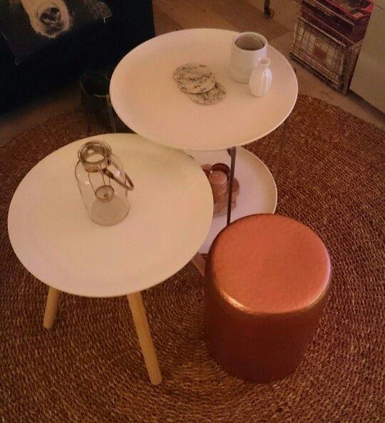 Side tables, round #interior #copper