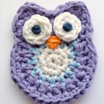 Owl Applique crochet pattern