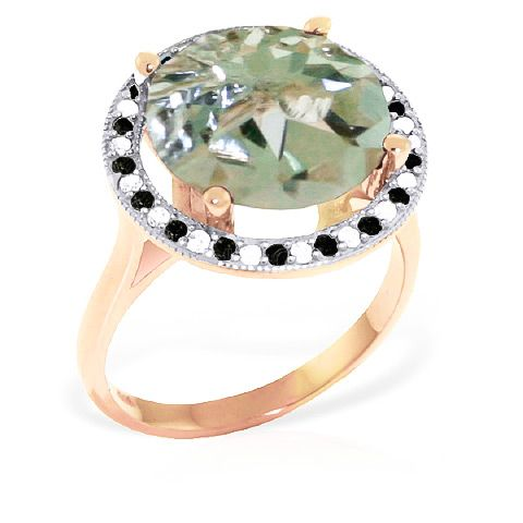 buymadesimple.com: QP 9ct Rose Gold 5.0ct Green Amethyst Ring