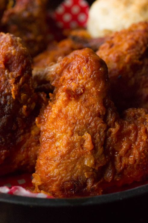#Tennessee Hot Fried Chicken recipe with buttermilk, hot sauce, honey, cayenne, paprika