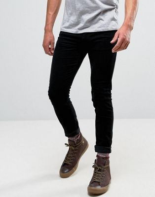 Lee - Malone - Pantalon en velours côtelé super skinny - Noir