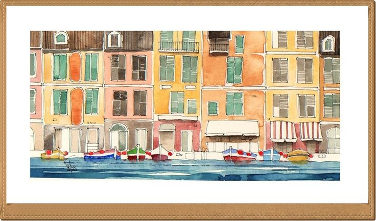 Portofino - Gianluigi Punzo - Naples - Napoli - Italy - Italia - Watercolor - Acquerello - Aquarelle - Acuarela