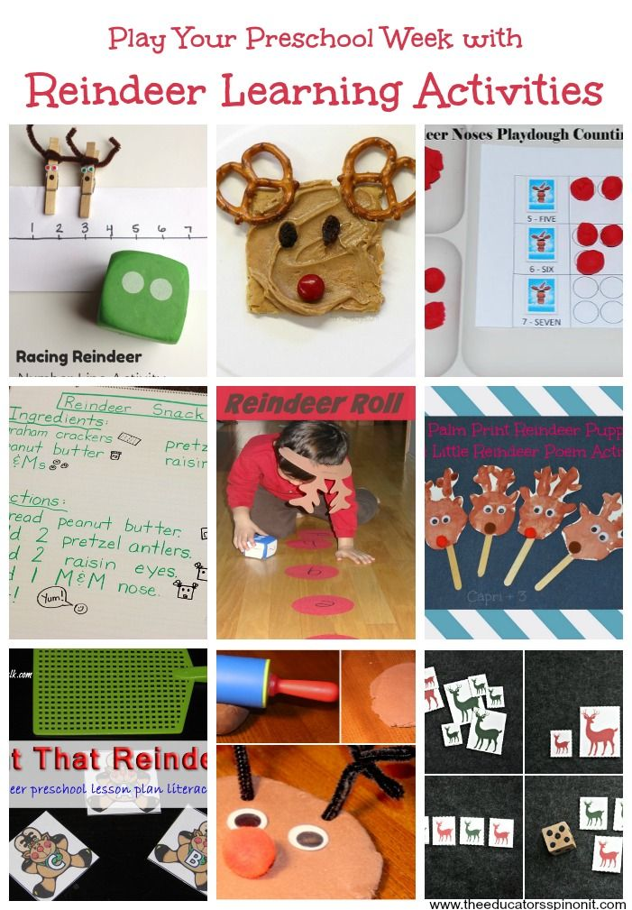 The Educators' Spin On It: Reindeer Math Games for Preschool Learning #PLAYfulPreschool