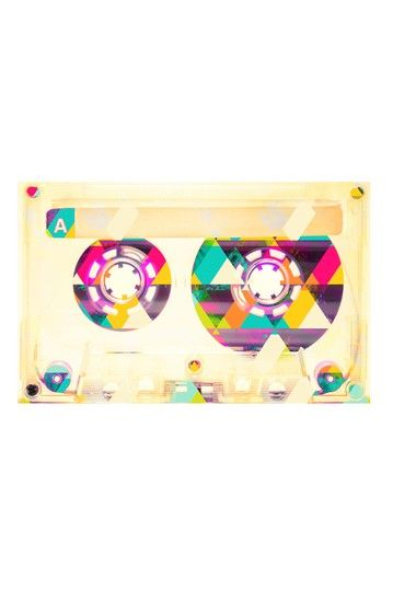 Mixed Tape Canvas Wall Art by Marmont Hill Inc. on @HauteLook. Retro mix tape artwork.