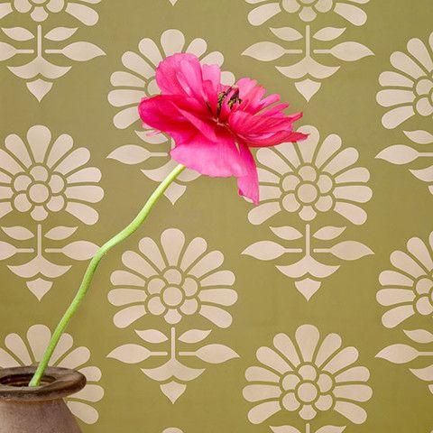 Small Jaipur Flower Garden Furniture Stencil 29 95
