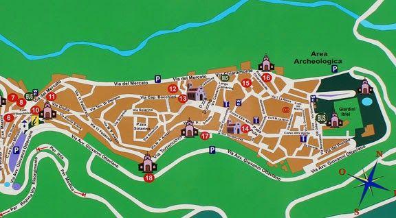 Map of Ragusa-Ibla